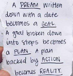 Dreams to Goals - Personal Development Event